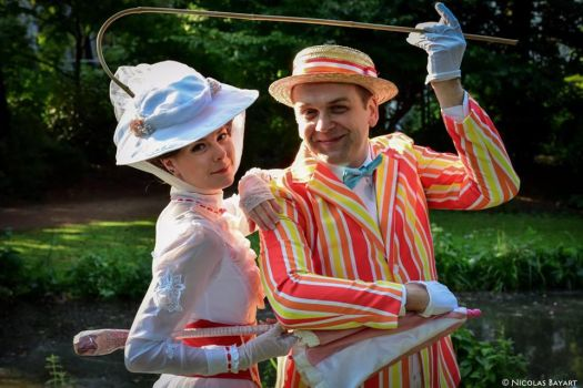 Mary Poppins and Bert Cosplay by JulysFactory