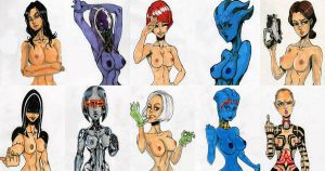 MASS EFFECT: BABE GALLERY by Dragonhorse10