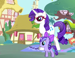 Rarity and Diamond Star by MaddieHatter3337