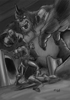 He-Man and the Shadowbeast by Maxnethaal