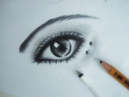 Eye with a piercing by Huyen-Linh