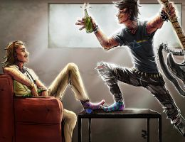 Punk and Dom by PaleRiders