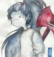 Marceline in watercolours by Dreamsoffools