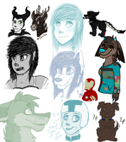 2014 Sketchdump 2 by Rainbow-Moose