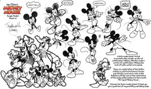 Old Mickey Mouse Model Sheet #1 by jongraywb