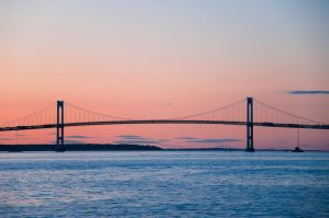 Pell Bridge at Sunset by Bvilleweatherman