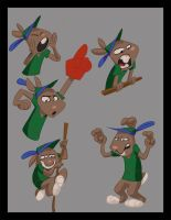 Chaucer the Rabbit 2 by wulfae