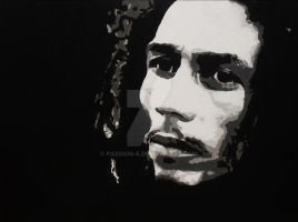 Painting of Bob Marley by passion-e