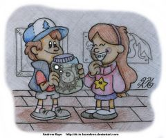 Gravity Falls - Dipper and Mabel Pines by AK-Is-Harmless