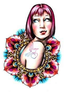 Girly Tattoo Design by LarcDEAR