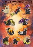 Halloween Cat Icon Set by TrollGirl