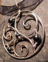 New Moon Hematite Necklace 2 by MoonLitCreations
