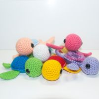 Baby Sea Turtles by Heartstringcrochet