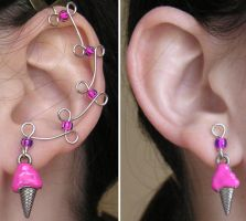 Pink Ice Cream Ear Vines by lavadragon