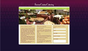 Serene Cuisine, Home Page by NoahRodenbeek
