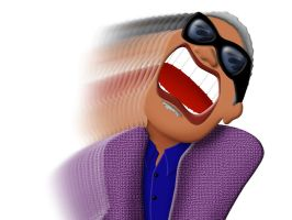 Ray Charles caricature by FauxHead