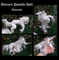 Unicorn Posable art Doll by Eviecats