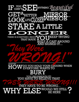 They Were Wrong Typography by ty-vani