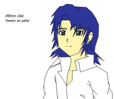 Athrun drawn on Paint by naruto6393