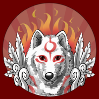 Inktober Day 3: Great Mother Amaterasu by LivingRainbow