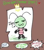 Gir's Zim drawing by Mikage-YoshinoAnerin
