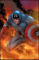 Commission: Captain America by K-Bol