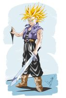 Future Trunks Dragon Ball Z by Sersiso