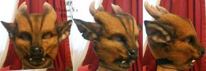 LARP Mask: Muntjac 2 by Magpieb0nes
