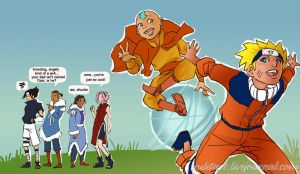 Naruto meets Aang the last Air by lorainesammy