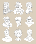 Fantasy Headshots II by Mokolat-Illustr