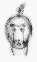 Cowardly Lion concept art by Ajzan-Hataru