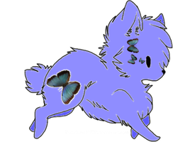 Butterfly wolf Adoptable by Prettyxmouse
