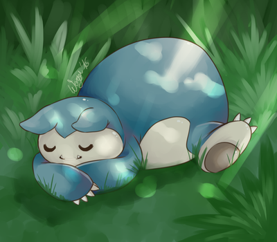Commision - Snorlax! by WeruQ