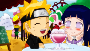 Naruhina SD date by Okky-RightBrain