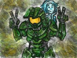 Chief and Cortana, Say Thank You by AeRo04