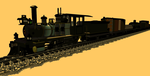 24 inch gauge 4-4-0 and train 01 by dinodanthetrainman