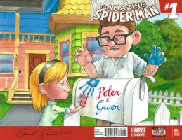 UP Amazing Spider-Man Sketch Cover Mash-Up Part 2 by GuanlinChen