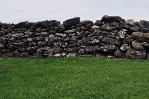 Old Rustic Stone Wall by Georgina-Gibson