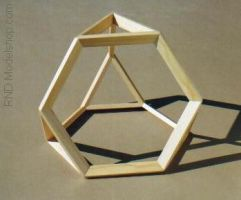 Truncated Tetrahedron in wood by RNDmodels