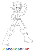 [WIP] SuperMegaMan lineart by SuperDigiFlow