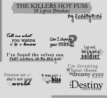 Hot Fuss Lyrics Brushes by readmymiind