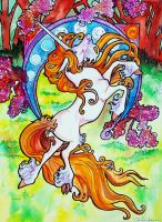 artful unicorn by jupiterjenny