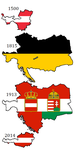 Flag maps of Austrian history by DinoSpain
