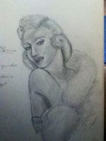 Marilyn Monroe by TheDragonInTheCenter