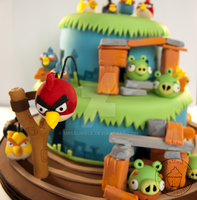 Angry Birds Cake - Red Bird by MrsBumble