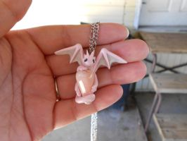 Pink Calcite Dragon Pendant by Micrackin