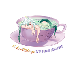 PokeVillage - clear green Tea Cup Meme by ChiNoMiko