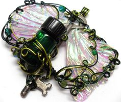 Custom Fairy Winged Key by sojourncuriosities