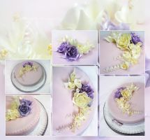 Cake by my Mom-Pulled Sugar Flowers by Mandy0x
