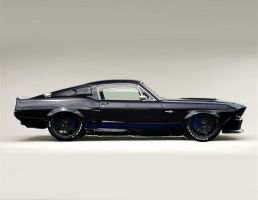 Black Shelby GT500 by lovelife81